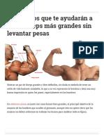 7 Ejercicios Que Te Ayudarán a Tener Bíceps Más Grandes Sin Levantar Pesas