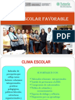 Clima Escolar Favorable