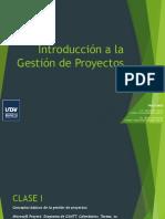 Gestión de Proyectos - Clase I