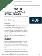 Nemak y Cuervo, Las Ganadoras de La Bolsa Mexicana en Marzo _ Expansión
