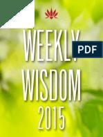 Weekly Wisdom 2015