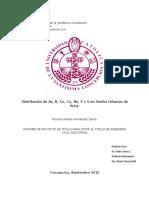 Distribución de As, B, Ca, Co, Na, P y S en Suelos Urbanos de Arica