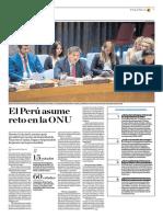 El Perú Asume Reto en La ONU