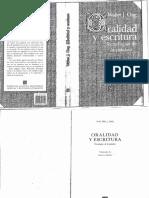 (f) Ong. W. -Oralidad y Escritura .