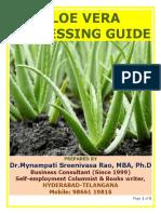 Aloe Vera Processing Guide by Mynampati Sreenivasa Rao