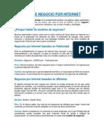 Modelos de Negocio Por Internet