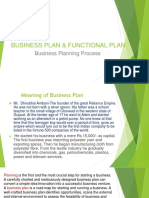 Business Plan & Functional Plan-lecture-II