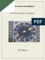 Libro de Las Eleciones en Astrología de Tito Macía Agosto 2017