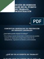 Prevención de Riesgos Laborales en El Puesto Administración