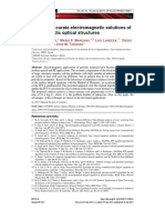 Fast and accurate electromagnetic solutions of finite periodic optical structures