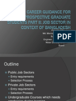 Career Guidance for Prospective Graduate Students Part II in Bangladesh