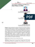 Aplicación de las pruebas estadísticas de Wilcoxon y Mann-Whitney con SPSS