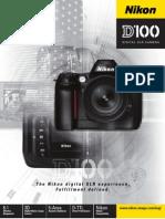 Nikon D100 - Brochure