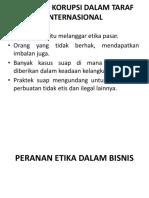 Masalah Korupsi Dalam Taraf Internasional