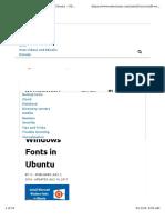 Install Font Core Microsoft