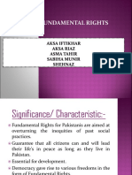 Fundamental Rights of Pakistan