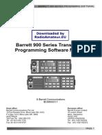 Barrett 900 Programming User