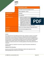ACCT6003 FAP Assessment Brief Part B