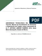Manual de Planeación y Organización Del Trabajo