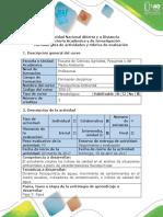 Guía de Actividades y Rúbrica de Evaluación - Fase 3 - Agua