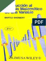 Introducción Al Análisis Matemático de Una Variable, 2da Edición - Robert G. Bartle