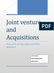 Joint Venture and Acquisitions