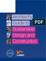 Architect's Guide to Sustainable Design and Construction