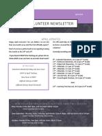 volunteer newsletter april 2018