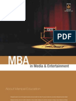 MBA in Media Entertainment