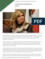 25-03-18 Logra Gobernadora Pavlovich Subsidio en Tarifa de Luz Para 2018 - Opinión Sonora