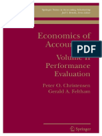 Peter Ove Christensen, Gerald Feltham-Economics of Accounting_ Performance Evaluation_ 2 (Springer Series in Accounting Scholarship) -Springer US (2005)