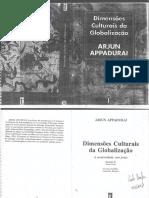 Arjun Appadurai, Dimensões Culturais Da Globalização