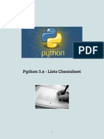 Python 3.x Lists Cheatsheet
