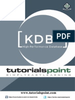 Kdbplus Tutorial