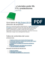 Manuales y Tutoriales Gratis Ms Project 2013 y Predecesores