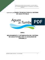 Especificaciones_tecnicas RED de AGUA