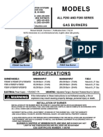 Manual P250AF, P265F Gas Powered Burners English