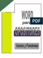 WORD OPOSITOR (Iconos y Funciones)