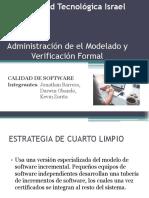 Administración de ElModelado y Verificación Formal