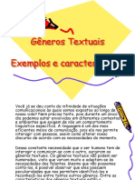 Gêneros Textuais - Revisão