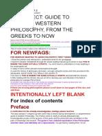 Projeto de Leitura de Filosofia