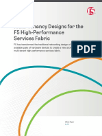 Multi Tenancy Designs for the f5 High Performance Services Fabric
