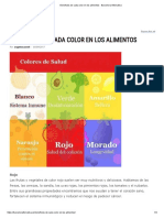 Beneficios de Cada Color en Los Alimentos - Barcelona Alternativa