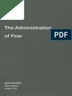(Semiotext(e) _ Intervention Series) Paul Virilio, Ames Hodges, Bertrand Richard-The Administration of Fear-Semiotext(e) (2012)