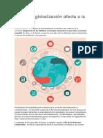 Globalización Afecta a La Economía