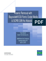 Arsenic Removal with Bayoxide® E33 Ferric Oxide Media & SORB 33® As Adsorption