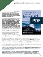 Elblogalternativo.com-Que Mi Gente Se Vaya a Hacer Surf Patagonia Otra Empresa Es Posible