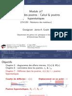 CIV1150 7 Deflexion Poutres