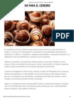 Chocolate, Bueno Para El Cerebro - Barcelona Alternativa