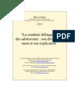 Conduite Delin Ados 3e